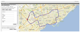 Create routes with Geofence feature. Get alerts when a driver deviates from the route by a set distance.