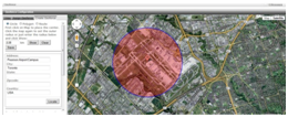 Circular Geofence - Set up a circular virtual boundary and get alerts whenever a vehicle enters or exits from a pre-defined area